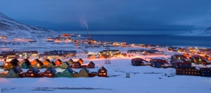 Svalbard, during winter, when it experiences very little sunlight, Image source: npmarathon.com