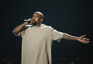 Kanye West announcing his bid during the VMA's. Photo: vogue.com