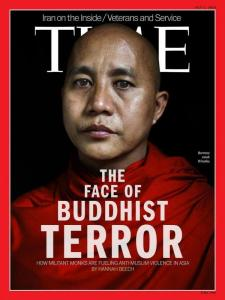 Ashin Whirathu, the leader of the 969 Terrorist Group, which was created as a response to Islamic Terrorism. He has been called the Burmese Bin Laden. Photo: TIME