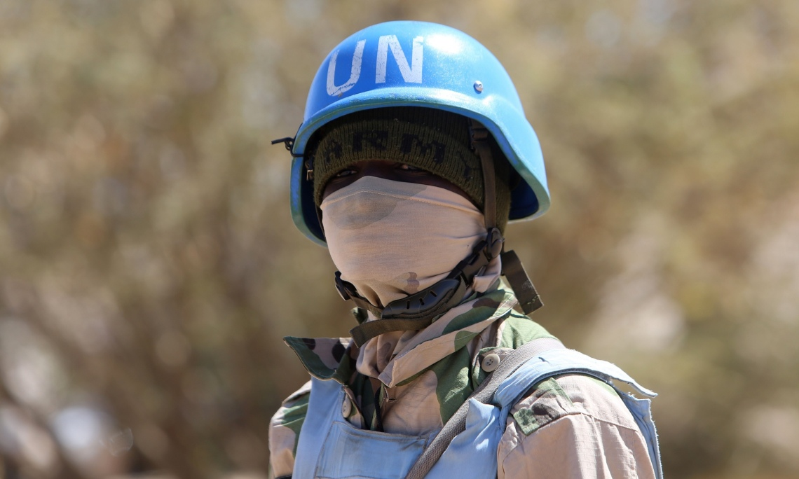 A member of the UN-African Union mission in Darfur. Photo: Ashraf Shazly/AFP/Getty Images