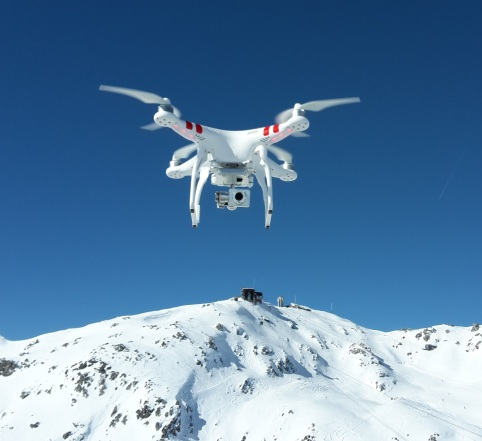 A DJI Phantom in flight. The Phantom has become a poster-boy for the rising drone industry.