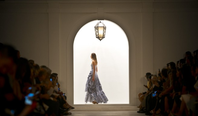 Fashion from Ralph Lauren Spring 2016 collection is modeled during Fashion Week on in New York. Photo: AP/Bebeto Matthews