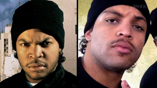 Try to guess which picture is Ice Cube and which is his son. Photo: yahoo.com