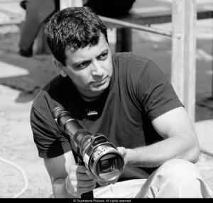Director M. Night Shyamalan on the set of Unbreakable. Photo: Frank Masi. S.M.P.S.P.