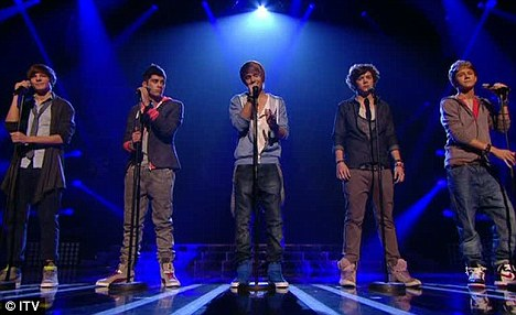 One Direction at the Live shows - 2010