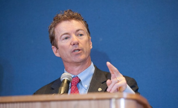 Republican Senator Rand Paul at Howard University, appealing to the black vote. Photo: The Atlantic