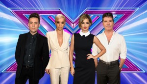 This year's judges. Left to right : Nick Grimshaw, Rita Ora, Cheryl Fernandez-Versini and Simon Cowell.