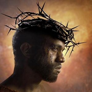 Kanye West in his form as the Holy Son. Photo: regalrealness.com