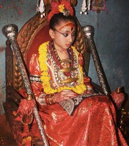 The most recent Kumari, Samita Bajracharya. Photo: telesle.net
