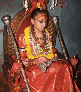 The most recent Kumari, Samita Bajracharya. Photo: telesle.net