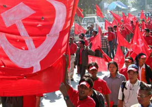 Maoists at a victory rally in Kathmandu. Photo: blog.com.np