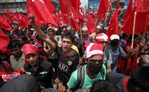 Maoist supporters in Kathmandu. Photo: The Telegraph