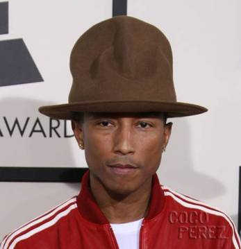 Pharrel 'Huge Hat' Williams as seen in the wild. Photo: perezhilton.com