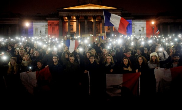A vigil held at Trafalgar Square. Photo: (Hannah McKay/PA)