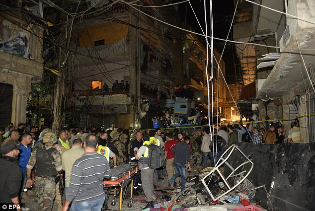 A devastating twin suicide bombing attack killed 43 and wounded 239 in Beirut. Photo: EPA