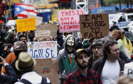 One of the Occupy protests. Photo: ibtimes.com