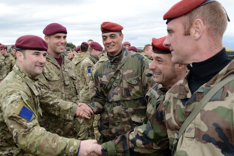 BRITISH AND FRENCH TROOPS JUMP INTO JOINT WARRIOR