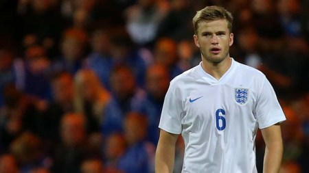 PRESTON, ENGLAND - SEPTEMBER 3: Eric Dier of England during the International friendly match between England U21 and USA U23 at Deepdale on September 3, 2015 in Preston, England. (Photo by Dave Thompson/Getty Images)